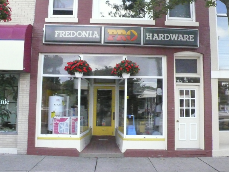 Store front of Fredonia Pro Hardware